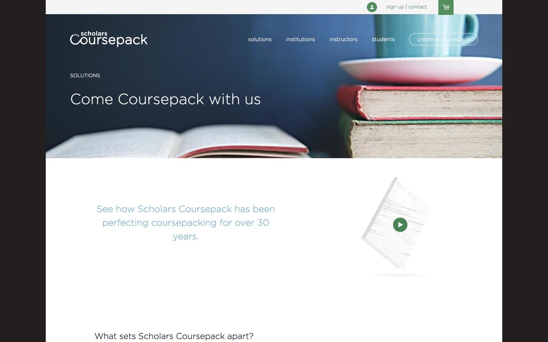 Scholars Coursepack