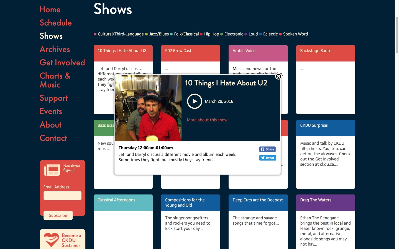 CKDU 88.1 FM Website